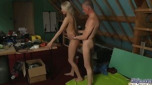 This sexy juvenile blond needs urgent sex when that toddler becomes horny. Beneficial for this Oldje that this chab is there. Viktoria Diamond will have his old dick for lunch. This Babe licks, kisses and eats cock juice like insane