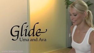 Ava together with Uma's awesomely juicy together with slippery massage sensation