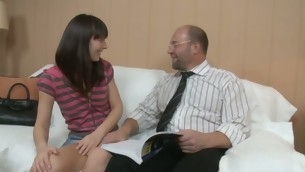 Sinless darling is enticed by an old and horny teacher