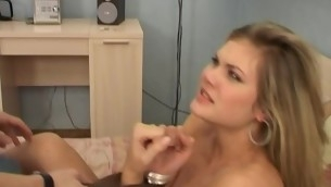 Rough and non-stop sex is anything our golden-haired is craving for