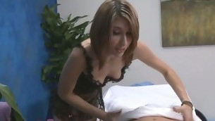 Those duo angels fucked immutable by their massage therapist make sure of getting a soothing rubdown